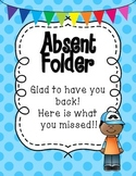 Absent Student Folder Covers- Boy