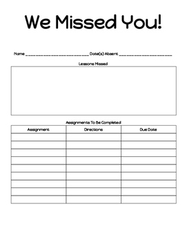 Absent Student Form