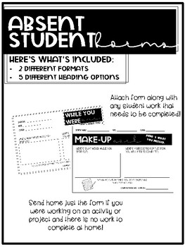 Absent Student Forms