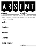 Absent Student Freebie