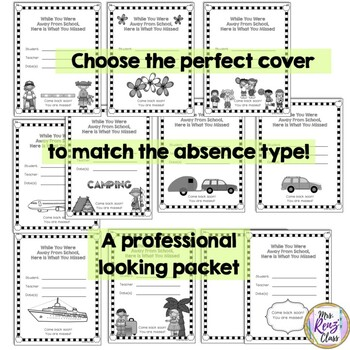 Absent Student Packet (Editable PPT)