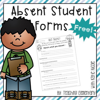 Absent Student Work Form: Free!