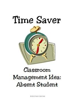 Absent Students? Classroom Management Idea Customizable Printable