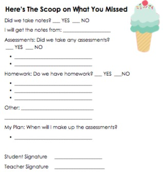 After Absences: The scoop on what you missed (editable)