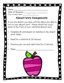 Absent Work Assignments