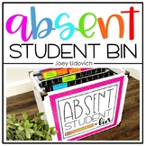 Absent Work Bin: Editable Options