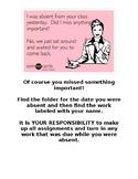 Absent Work Bin Sign & Recording Sheet