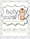 Absent Work Folder Cover