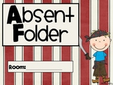 Absent Work Folders- Pirate Theme