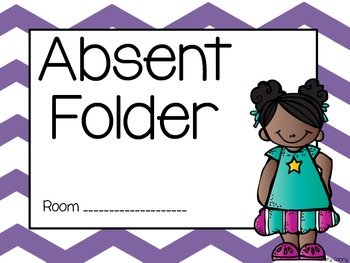 Absent Work Folders with Chevron Backgrounds