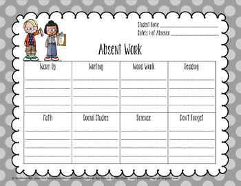 Absent Work Form - Editable Version