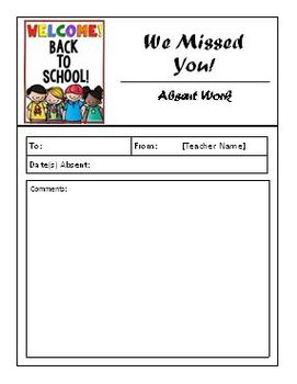 Absent Work Form - Editable Version