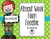 Absent Work Form Freebie