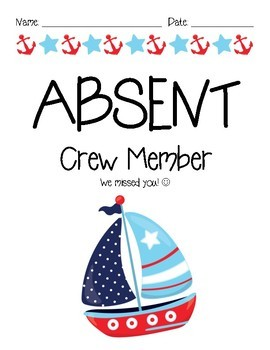 Absent Work Forms Nautical Theme