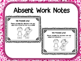 Absent Work Notes