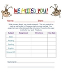 Absent Work Printable