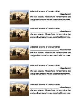 Absent Work Slip