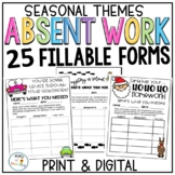 Teacher Resource Forms Absent Work