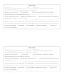 Absent Worksheet