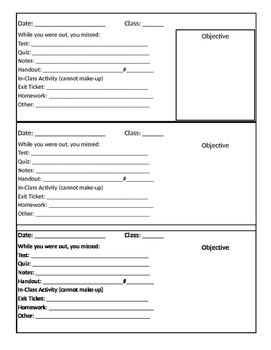 Absent work form