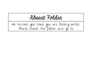 Absentee folder label