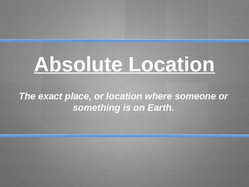 Absolute Location