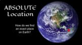 Interactive Absolute Location:  Latitude and Longitude Pra