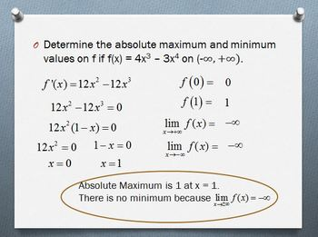 Absolute Maximum and Minimum (PP)