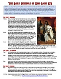 Absolute Monarch King Louis XIV's Daily Schedule Reading