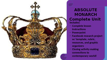 Absolute Monarch Unit--PPT, Group Activities, and Facebook Research Project