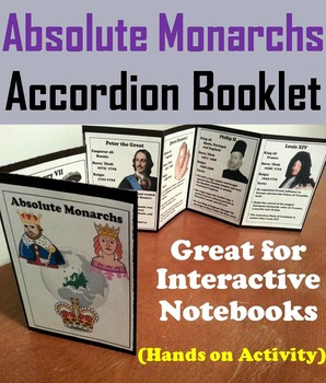Absolute Monarchs Interactive Notebook Foldable (Fun Hands on Activity)