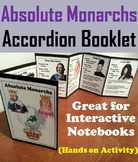 Absolute Monarchs Project: Interactive Notebook Foldable (Age of Absolutism)