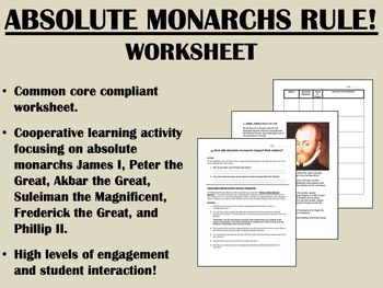 Absolute Monarchs - Common Core Global/World History