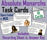 Absolute Monarchs Task Cards (Age of Absolutism)