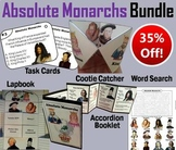 Absolute Monarchs Task Cards and Activities Bundle (Age of Absolutism)