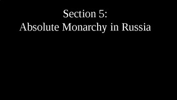 Absolute Monarchy in Russia PowerPoint