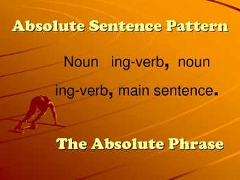 Absolute Phrase Poster