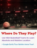 NBA Basketball Teams Absolute Location Assignment with a Google Earth Tour