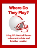 NFL Football Teams Absolute Location Assignment with a Google Earth Tour