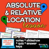 Absolute & Relative Location Lesson - Notes & Slideshow