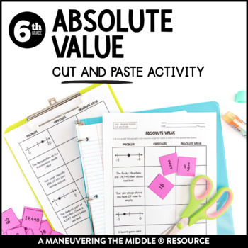 Absolute Value: Cut and Paste