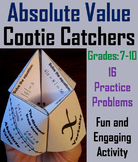 Solving Absolute Value Equations Activity for 7th, 8th, 9th, 10th Grade