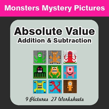 Absolute Value (Addition & Subtraction) Color-By-Number My