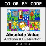Absolute Value: Addition & Subtraction - Color by Code - Weather
