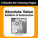 Absolute Value - Addition & Subtraction - Coloring Pages | Doodle Art Math