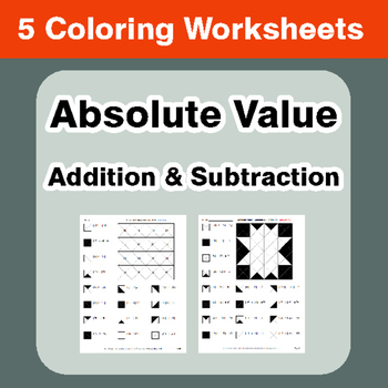 Addition And Subtraction Coloring Worksheets Teaching Resources
