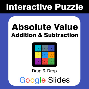 Absolute Value: Addition & Subtraction - Puzzles with GOOGLE Slides