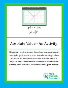 Algebra:  Absolute Value - An Activity