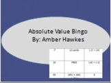 Absolute Value Bingo