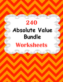 Absolute Value Worksheets Bundle